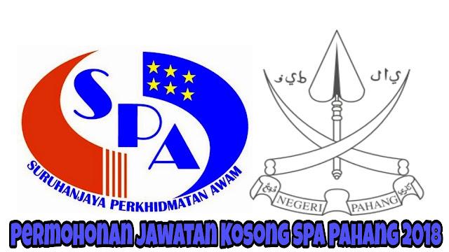 Permohonan Jawatan Kosong SPA Pahang 2018