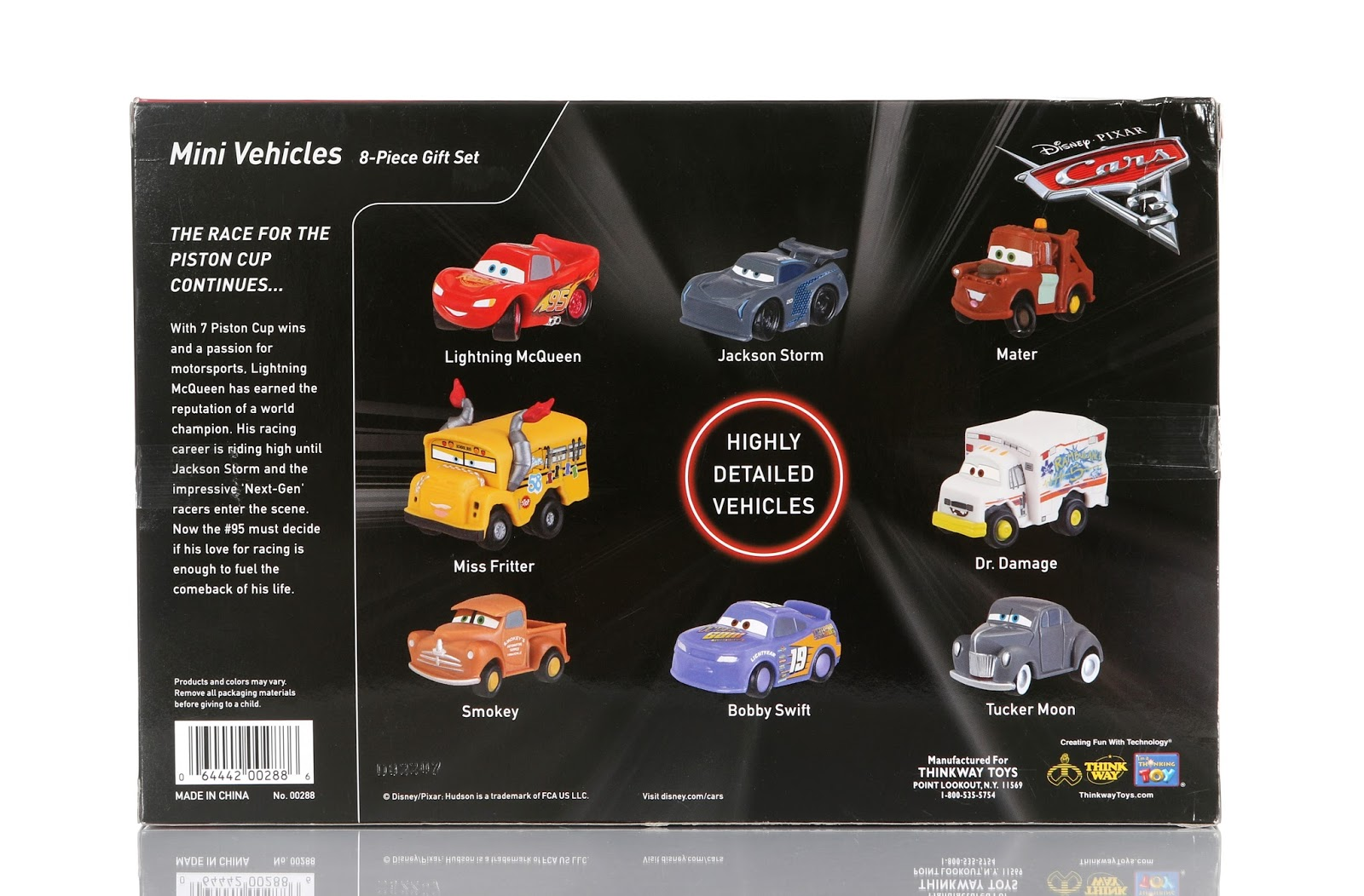 Cars 3 Mini Vehicles 8-Piece Gift Set (Thinkway Toys)