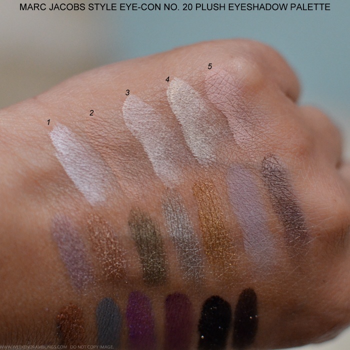 Marc Jacobs Style Eye-Con No. 20 Plush Eyeshadow Palette The Free Spirit Photos Swatches
