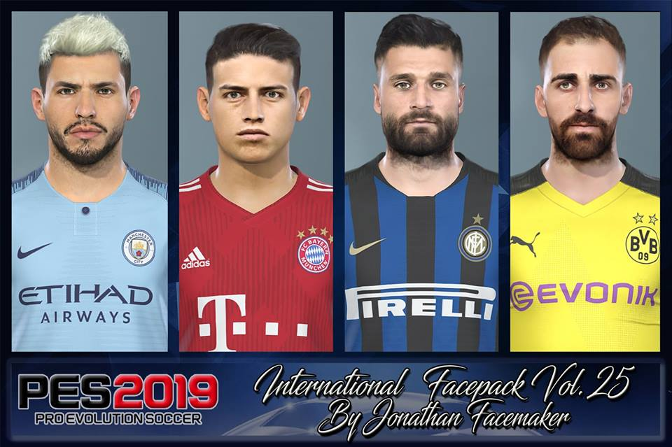 PES 2019 International Facepack Vol. 25 by Jonathan Facemaker
