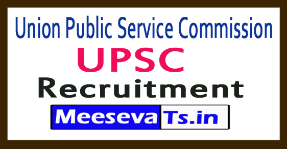 Union Public Service Commission UPSC Recruitment