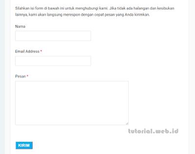 Cara Terbaru Membuat Contact Us (Contact Form) di Halaman Statis Blog Tanpa Widget