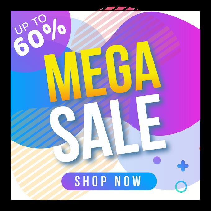Mega sale template instagram Free psd