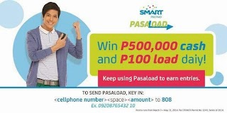 Smart Prepaid Pasaload Promo - Get a chance to win 500,000 pesos