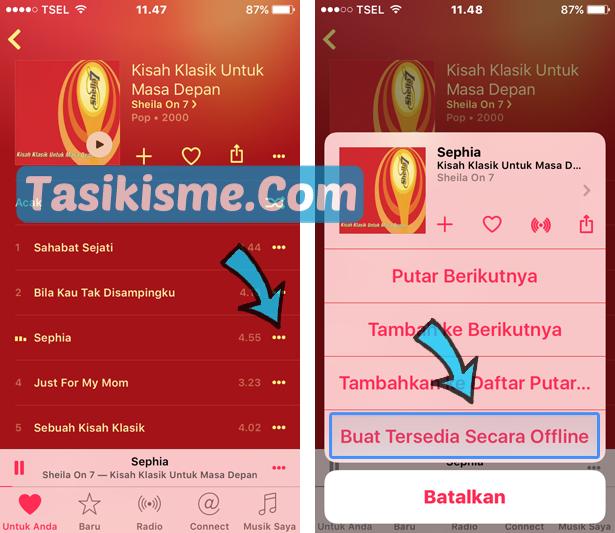 Cara Dengerin Lagu Di Apple Music Secara Offline Tanpa Internet