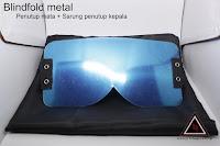 Jual alat sulap blindfold metal + sarung