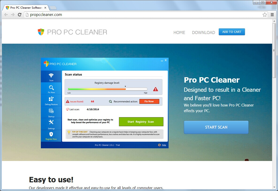 how to remove pc cleaner pro from windows 8