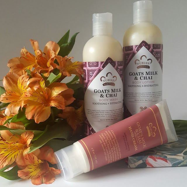 Goats milk and chai body lotion, body wash and hand cream