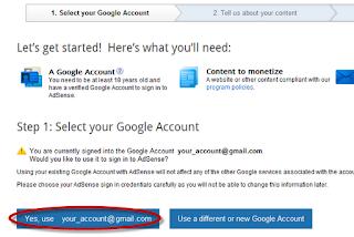 How to create Google Adsense Account 3