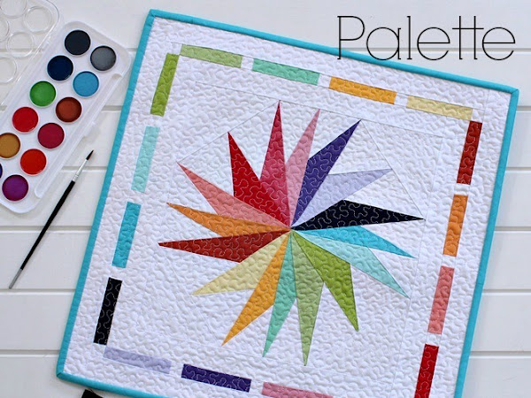 Palette Mini Quilt + Your Free January 2016 Calendar