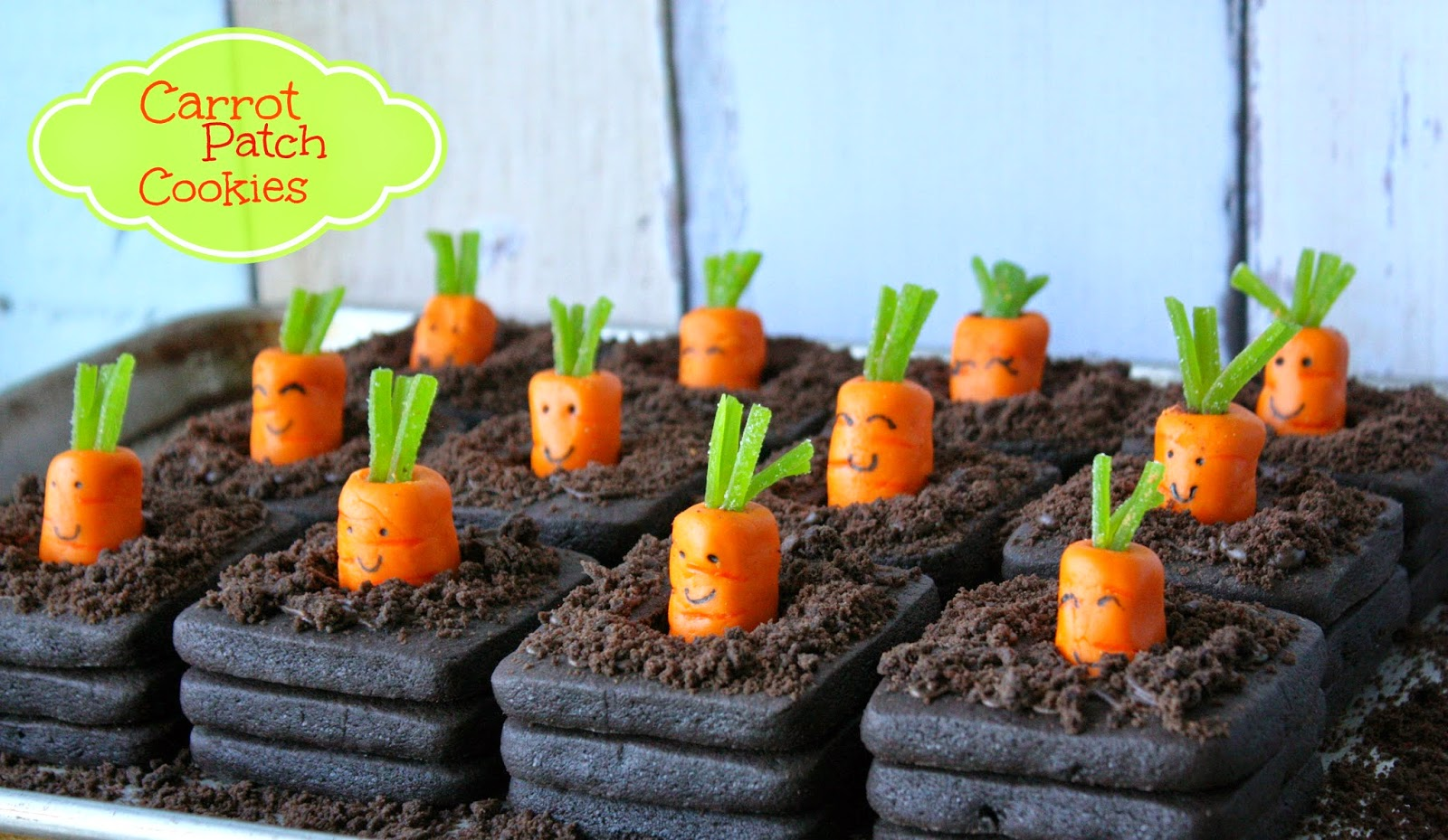 Munchkin Munchies: 3-D Carrot Patch Cookies