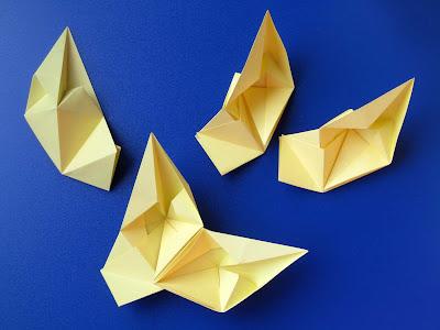 origami moduli e incastro Stella di cuori 2 - Star of hearts 2 by Francesco Guarnieri