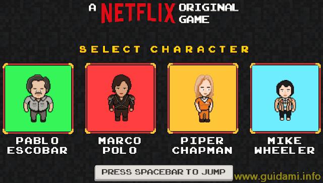 Gioco Netflix online FlixArcade con personaggio delle serie TV(1)