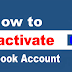 How to Deactivate A Facebook Account Permanently
