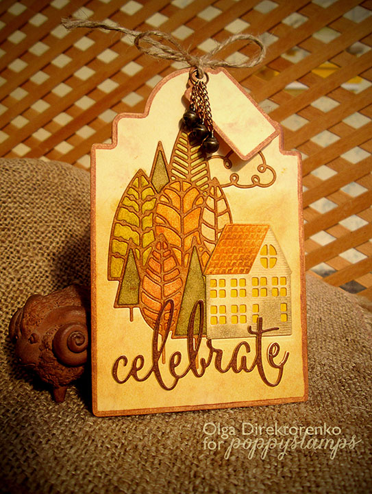Building Your World Fall Tag Inked Border Technique