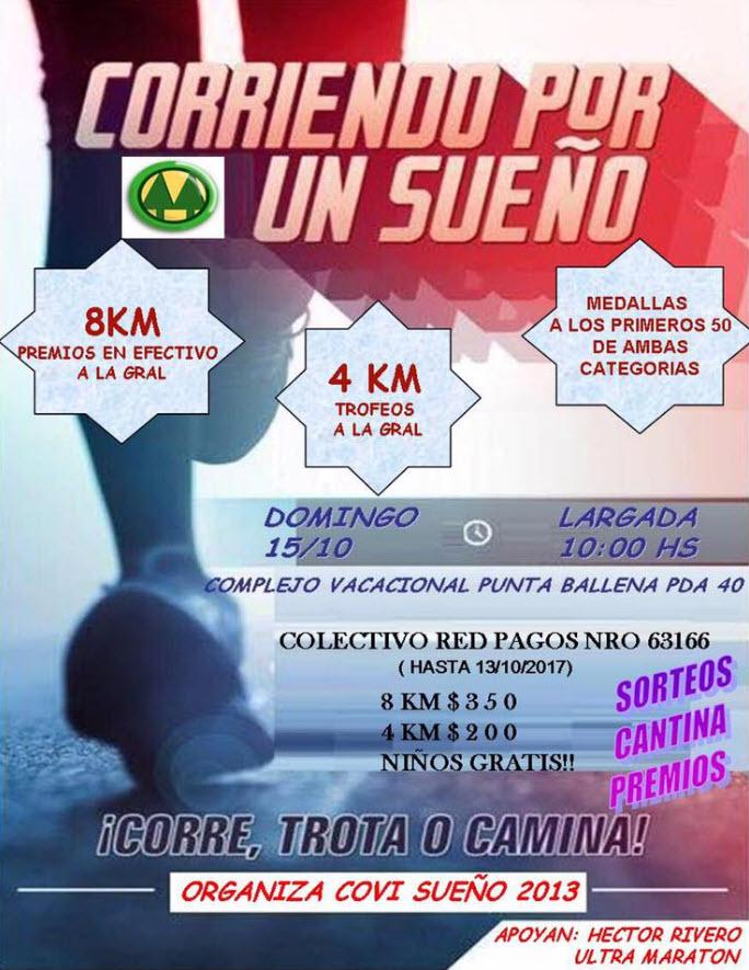 8k y 4k Covi sueño - Corriendo por un sueño en Punta Ballena (Maldonado, 15/oct/2017)