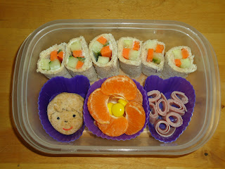 A Bento style packed lunch