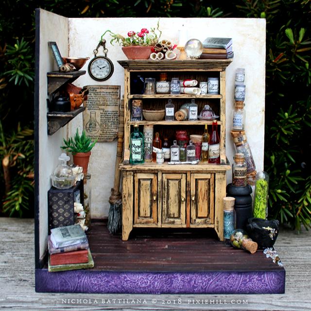 Miniature Potions Room - Nichola Battilana pixiehill.com
