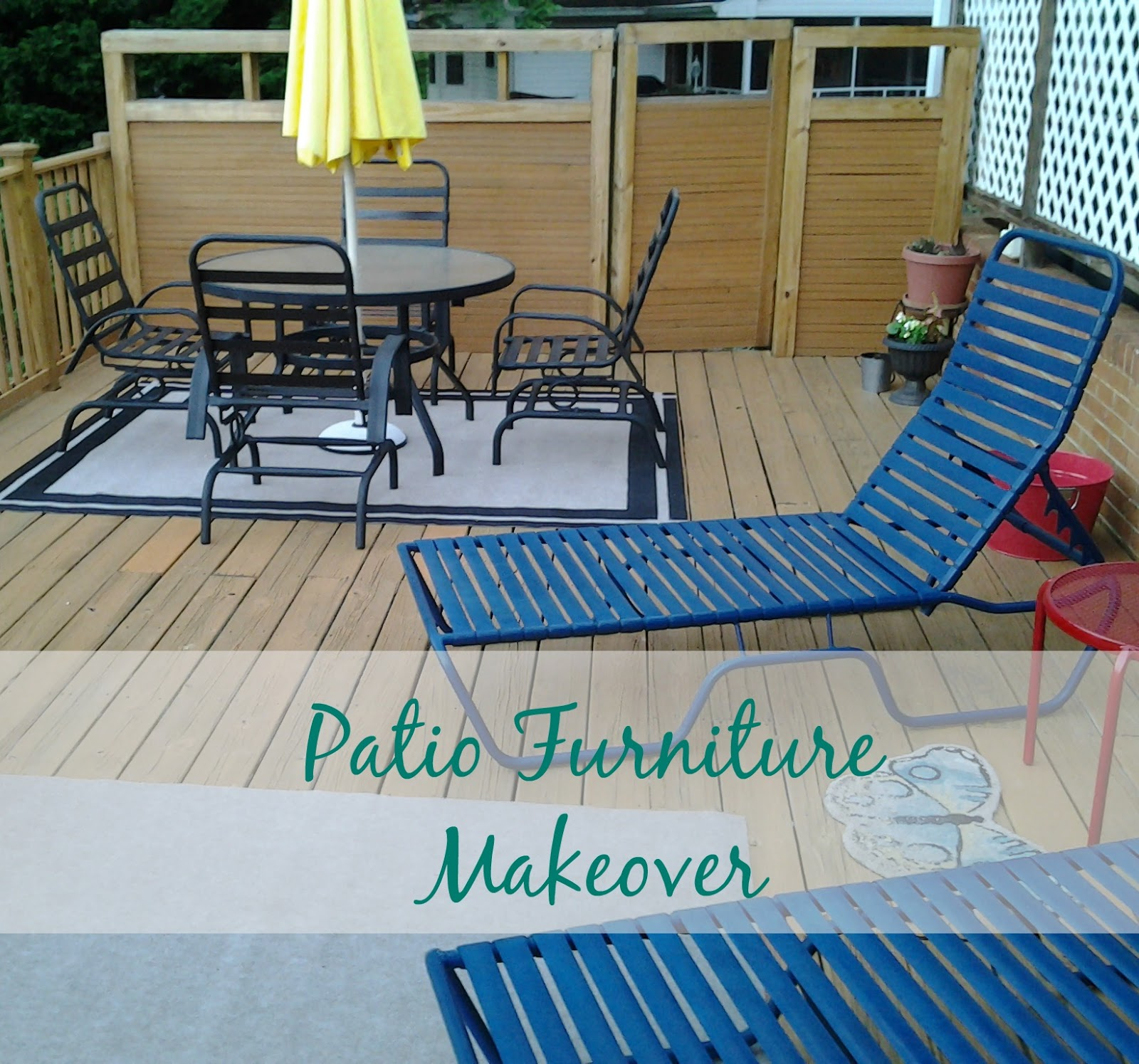 Real Girl s Realm Updating Iron Patio Furniture with Paint