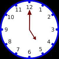 Gambar jam pukul 05.00