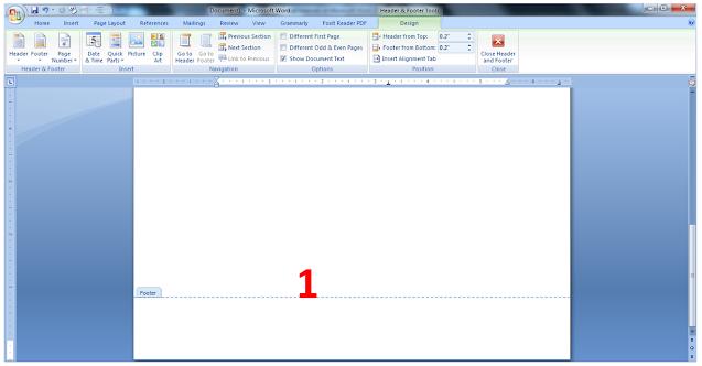 cara membedakan posisi halaman di word
