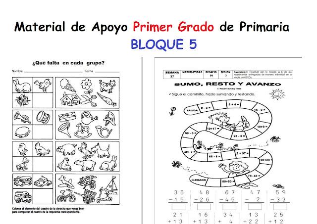 español,matematicas,primero,material