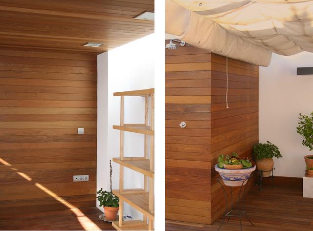 Revestimientos de pared de madera a medida espacios en madera - Pared de madera interior ...