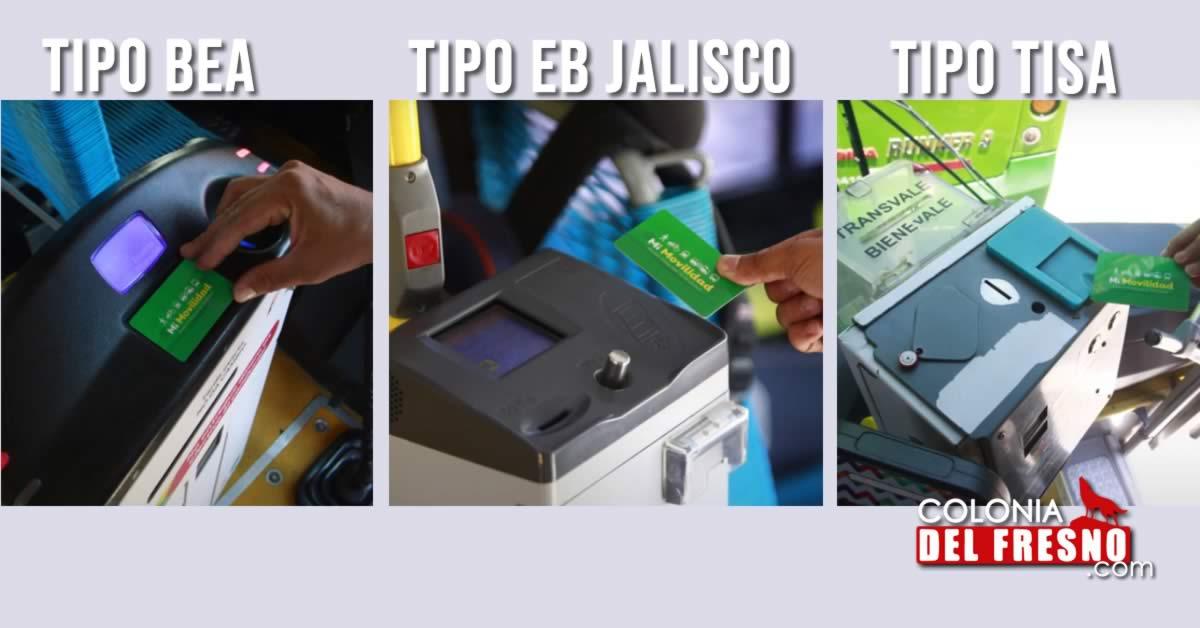 Imágenes de las máquinas para recargar y pagar en el transporte público