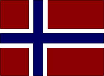 bandera con cruz blanca y azul