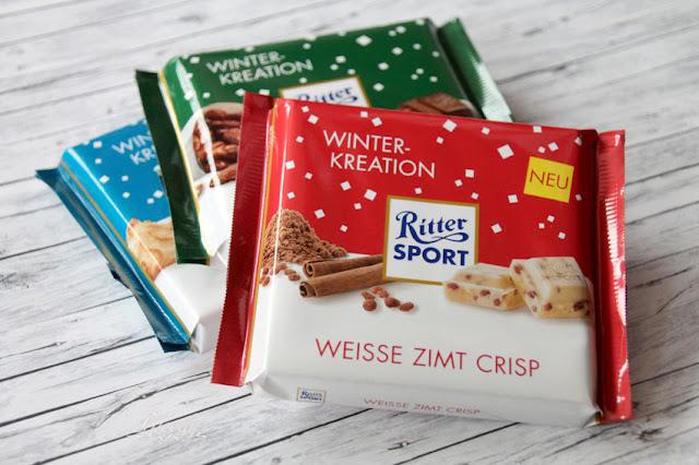 Ritter Sport Schokolade Winter-Kreation - Weiße Zimt Crisp