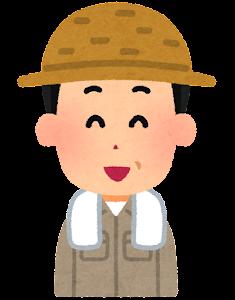 農家の男性のイラスト(笑った顔)