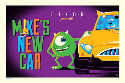 Mike's New Car Pixar Short Regular Edition Screen Print by Dave Perillo x Cyclops Print Works x Disney