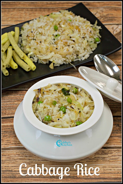 Cabbage Rice Recipe | Kids Lunch Box Dishes