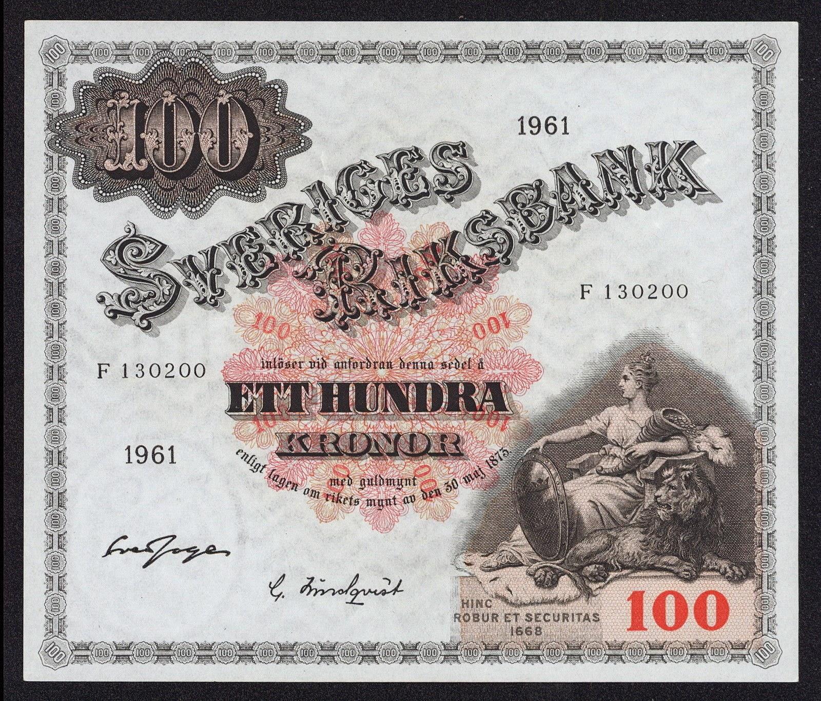 Sweden Banknotes 50 Kronor banknote 1950 Mother Svea