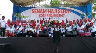 Senam Haji Sehat & Edukasi Kesehatan kpd Calon Jamaah Haji Kota Padang bersama SUSU HAJI SEHAT, 9 Juli 2017