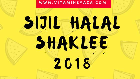 Sijil Halal Shaklee 2018 Terbaru