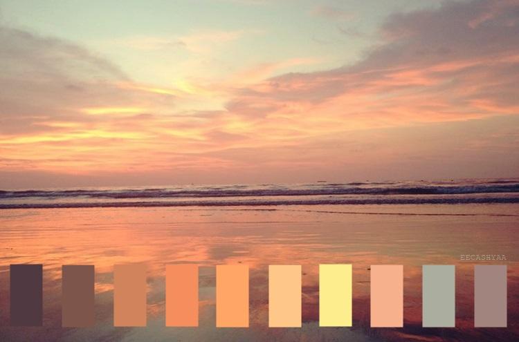 color palette, pantai dalit sabah