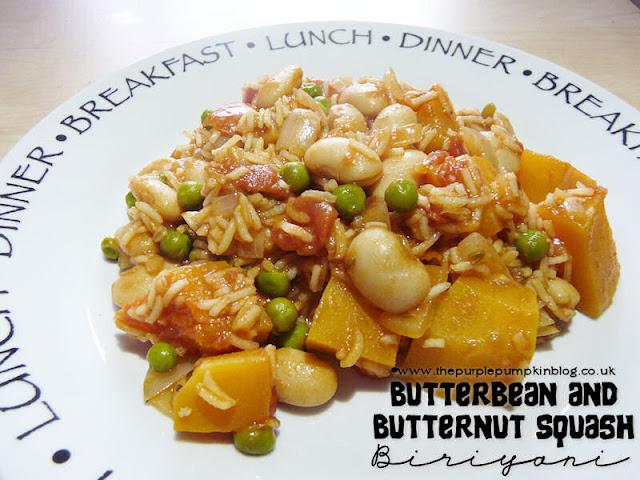 Butterbean & Butternut Squash Biriyani #Vegan #Vegetarian #Detox
