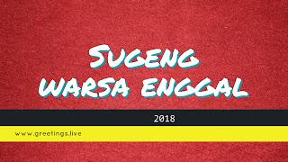 Sugeng warsa enggal 2018 Javanese greetings