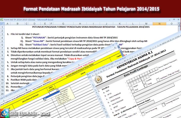 Format Pendataan Madrasah Ibtidaiyah Tahun Pelajaran 2014/2015