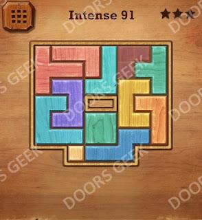 Cheats, Solutions, Walkthrough for Wood Block Puzzle Intense Level 91