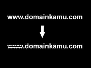 Cara Menghilangkan www pada Setting Domain di Blogger
