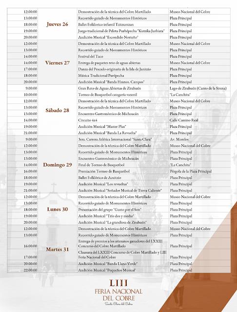 programa feria nacional del cobre 2018