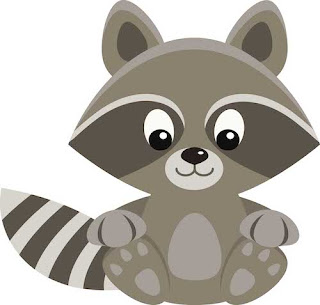 Free Raccoon clip art from Grade ONEderful Designs