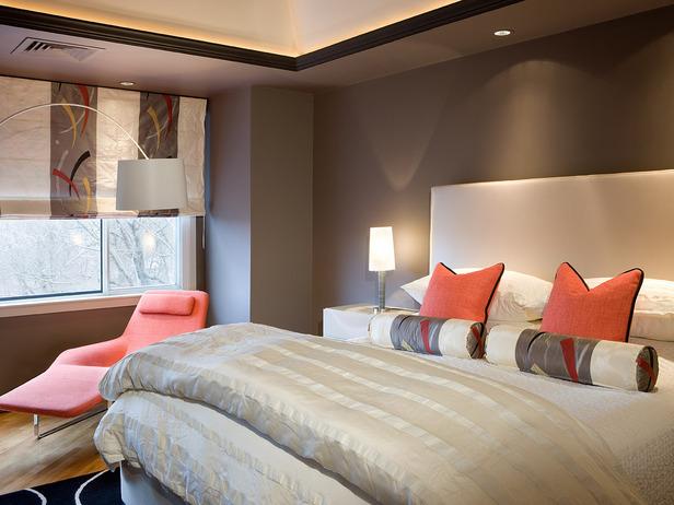 Liv.Luv.Design: Color Palette: Gray and Orange Bedrooms