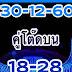 มาเเล้ว เลขเด็ดคู่โต๊ดบน งวด 30/12/60