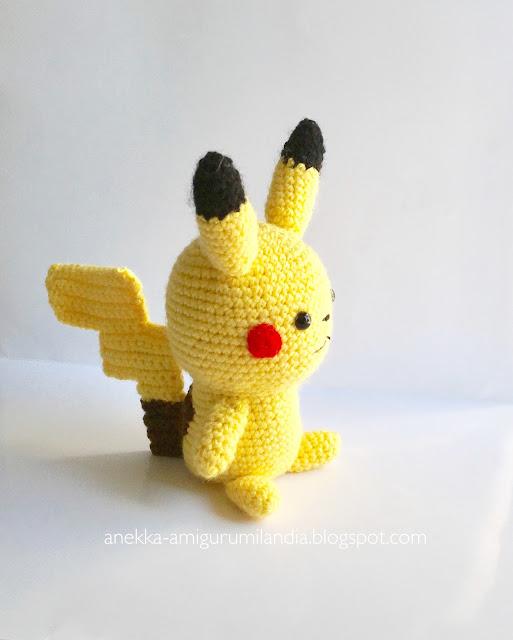 pikachu amigurumi crochet