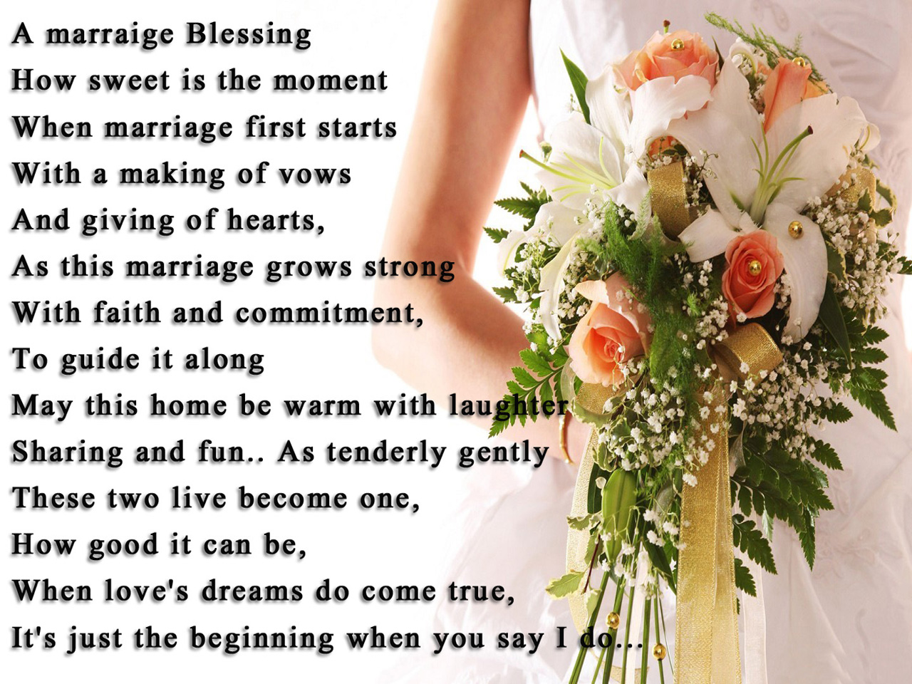 Wedding Short Poem By Famous Author With Wallpaper