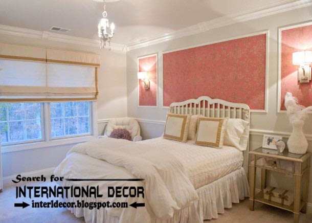 Decorative wall molding or wall moulding designs ideas and panels for bedroom