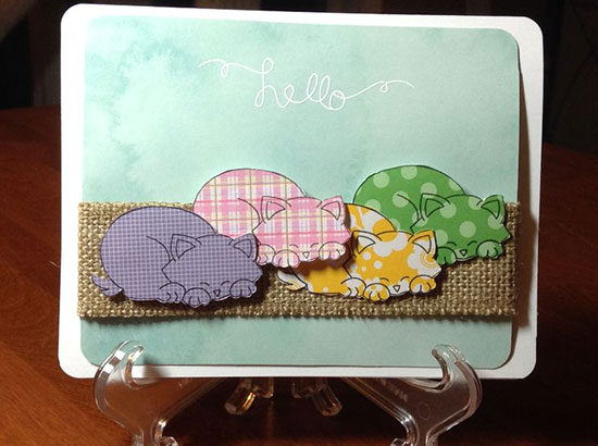 Cat Card - Inky Paws Challenge #9 Favorite | Newton's Nook Designs